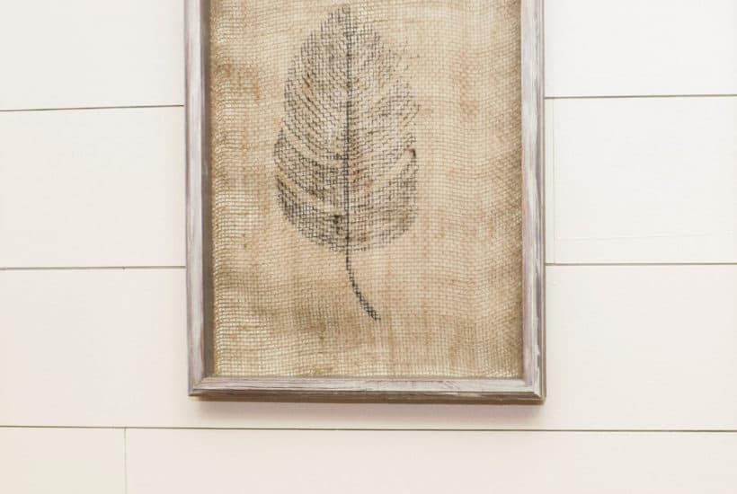 Burlap Feathers Wall Decor