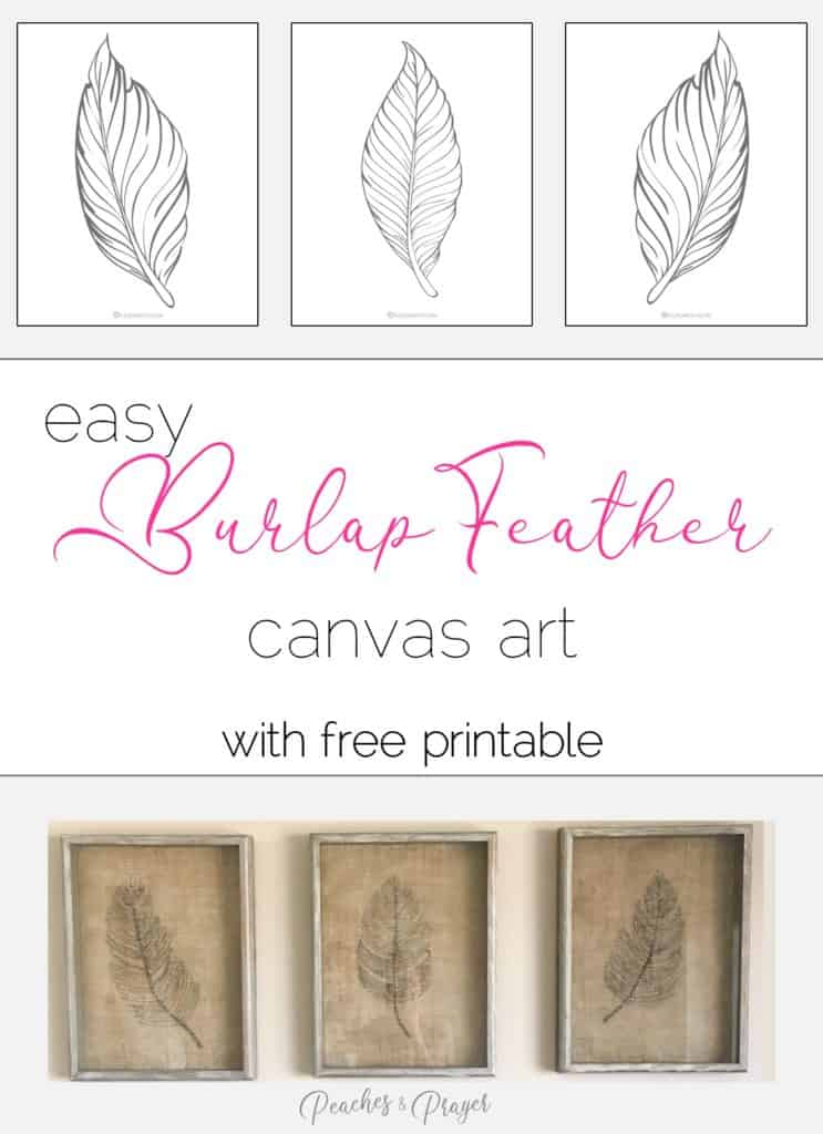 How to draw burlap feathers on canvas