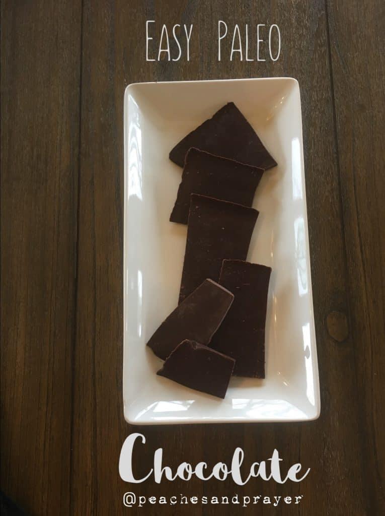 Easy Homemade Paleo Chocolate