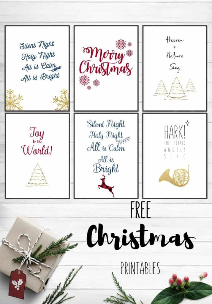 Free Christmas Printables 2018