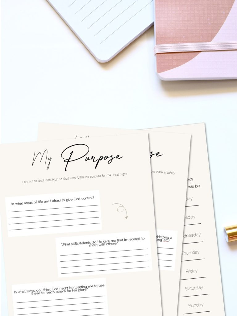 Free Finding Purpose Journal Printable