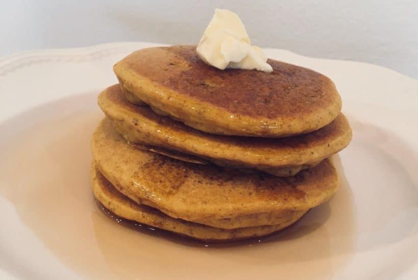 Gluten Free Pumpkin & Spiced Pear Pancakes