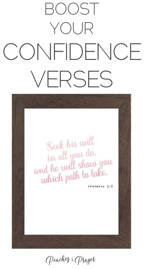 Boost your confidence with bible verses