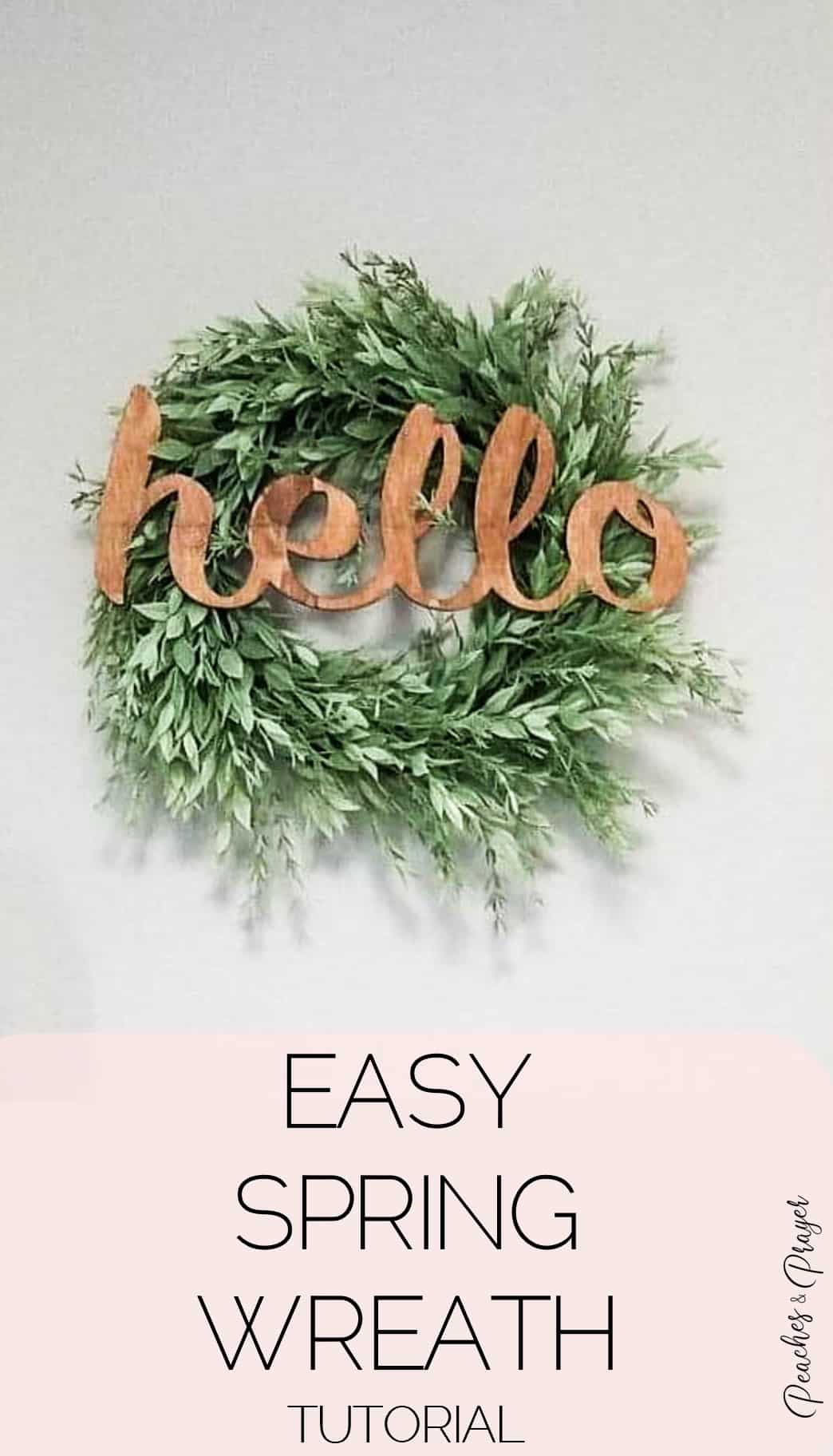 Easy Spring Wreath Tutorial