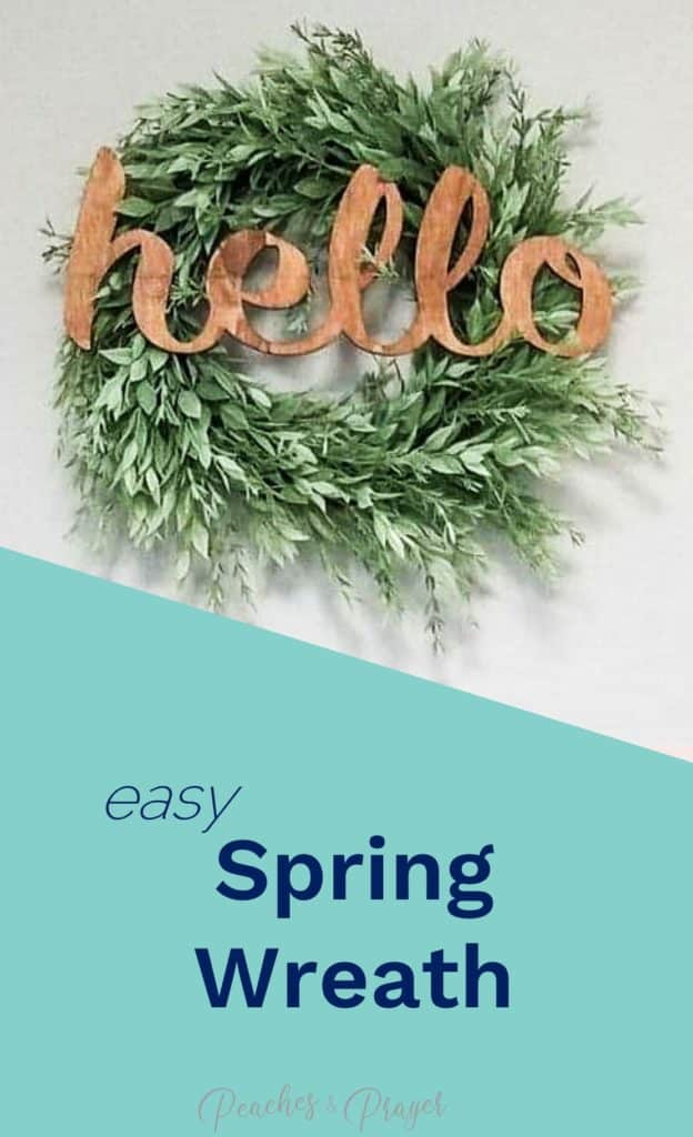 Affordable Spring Wreath Front Door