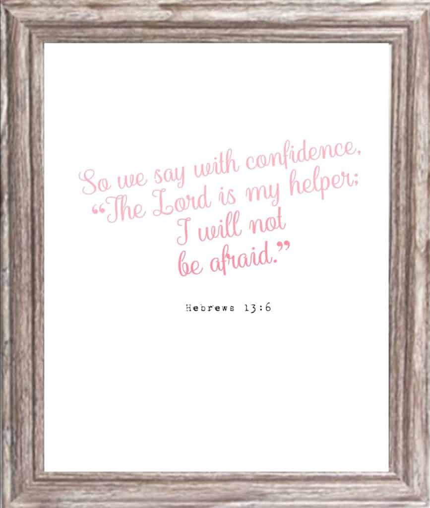 Confidence and Strength Printable