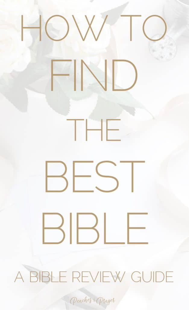How to find the best bible guide
