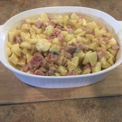 Scalloped Potatoes & Ham {Gluten & Dairy Free}
