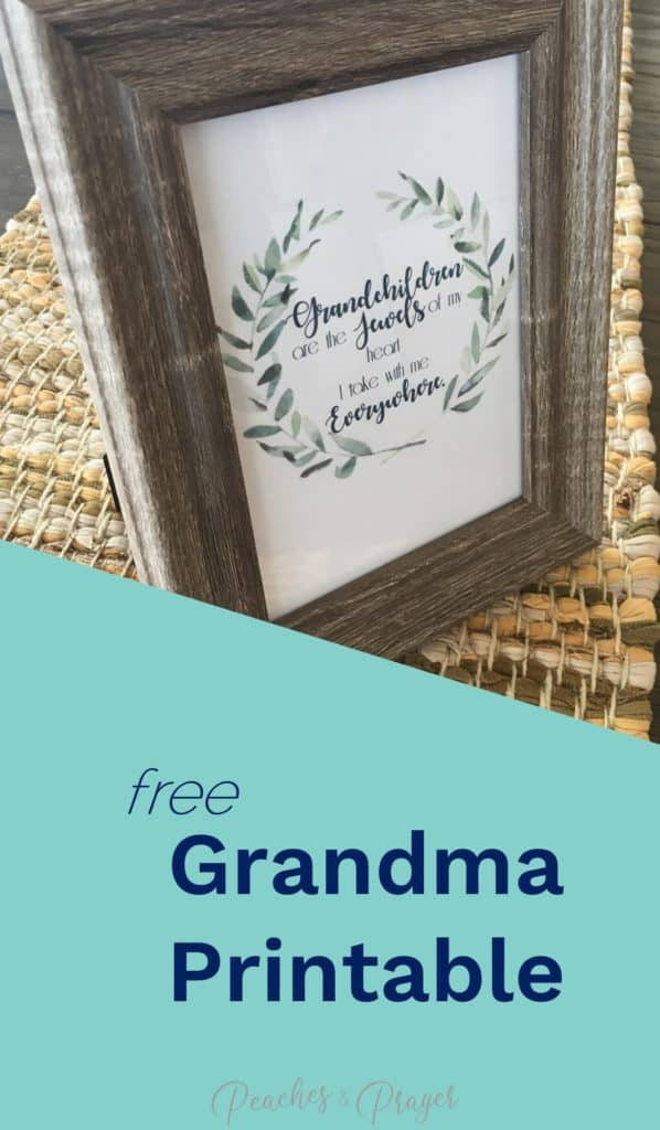 Free Grandma Printable for the mom who has everything