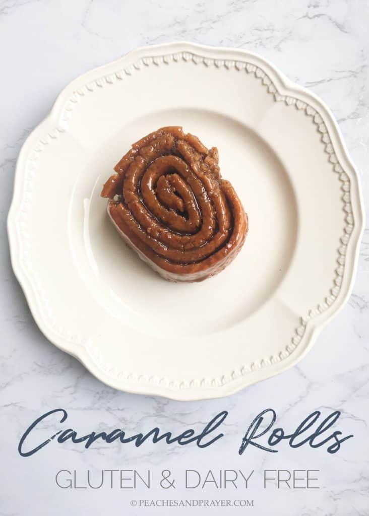 Gluten & Dairy Free Caramel Roll Recipe