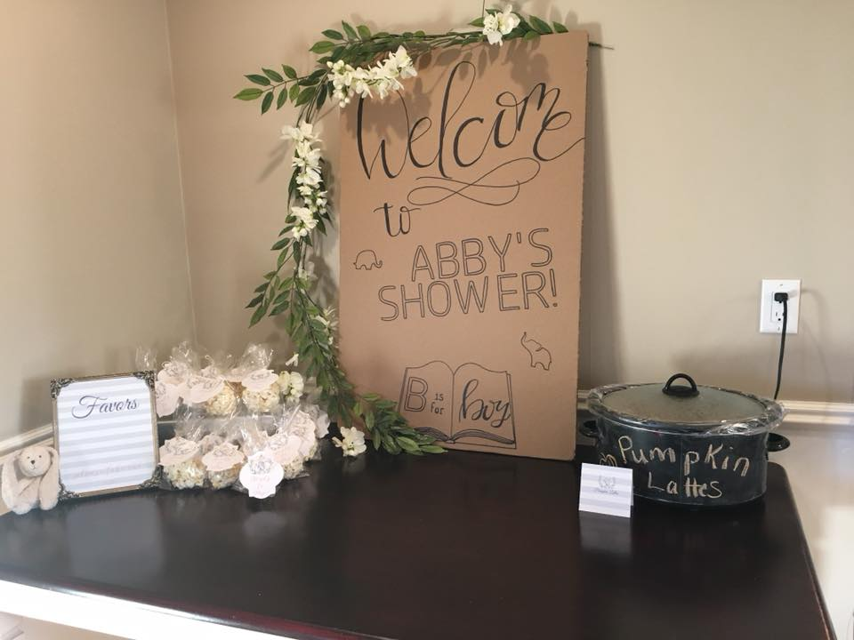 Welcome to the baby shower sign baby shower favors chalkboard paint crockpot party planning guide