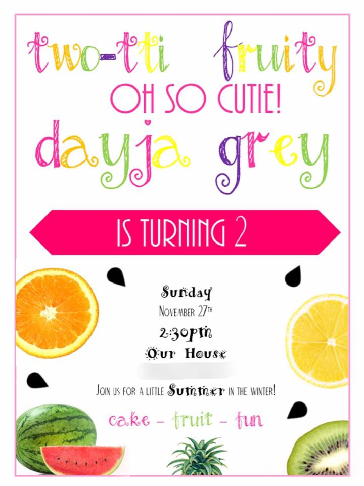 Two-tti Fruity Party Invitation Girls Birthday party planning guide
