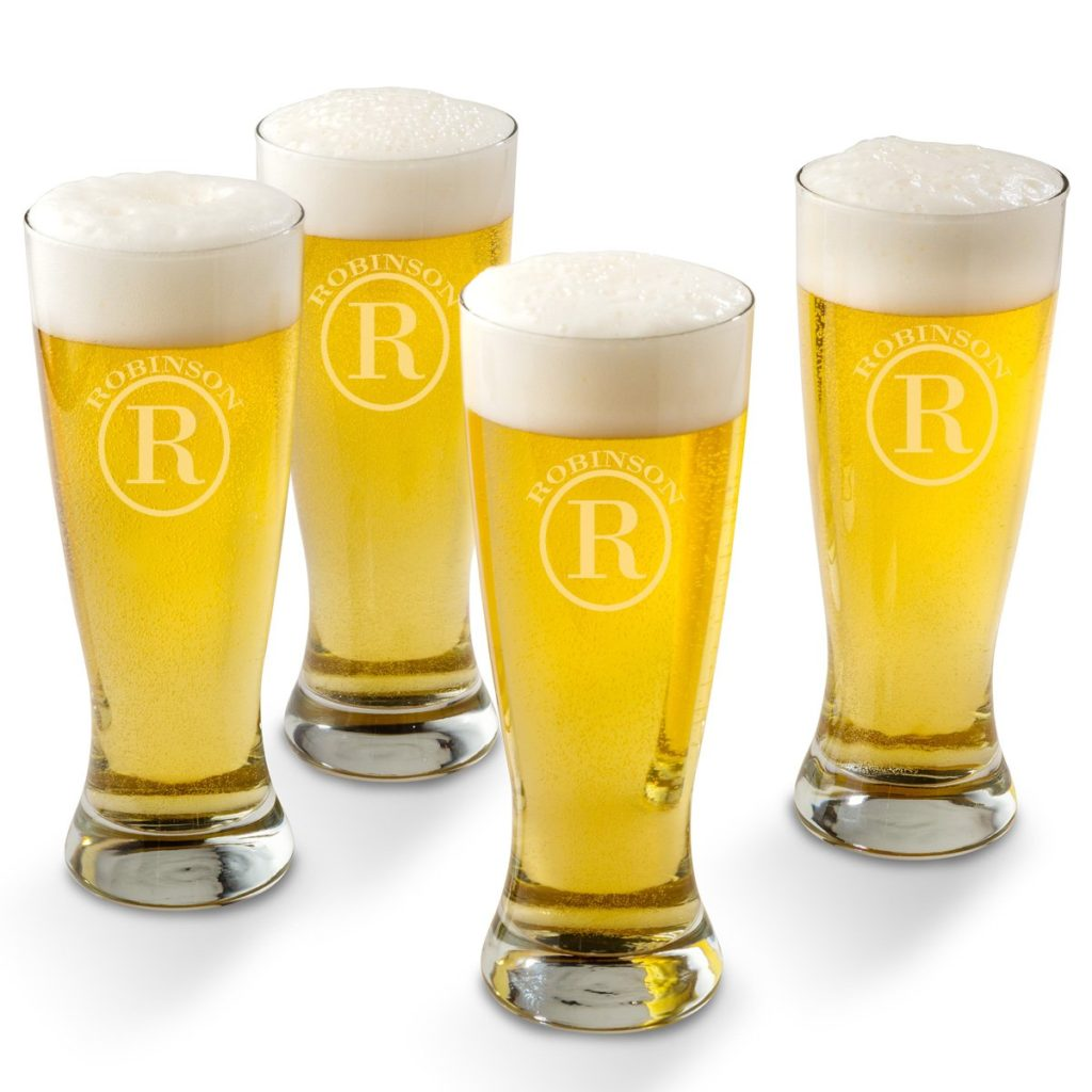 Gifts for him personalized beer glasses