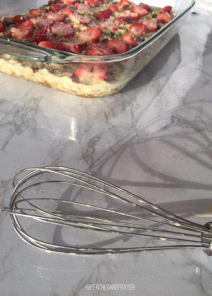 Strawberry Rhubarb Oatmeal Bake healthy Breakfast Ideas