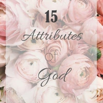 15 Attributes of God