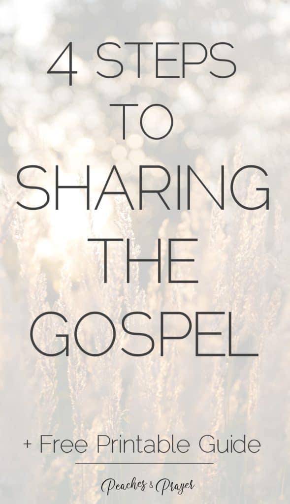 4 steps to sharing the gospel free printable guide