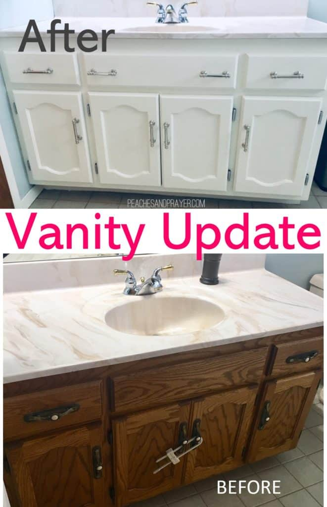 Before and after vanity update