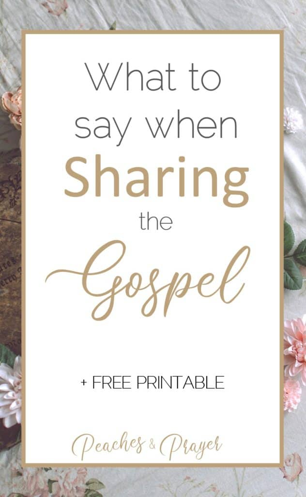 What to say to share the gospel