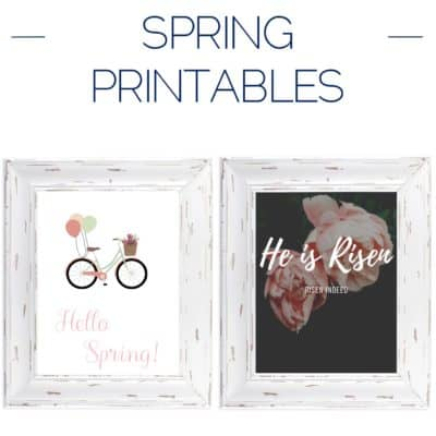Spring Printables – Spring Is Around the Corner!