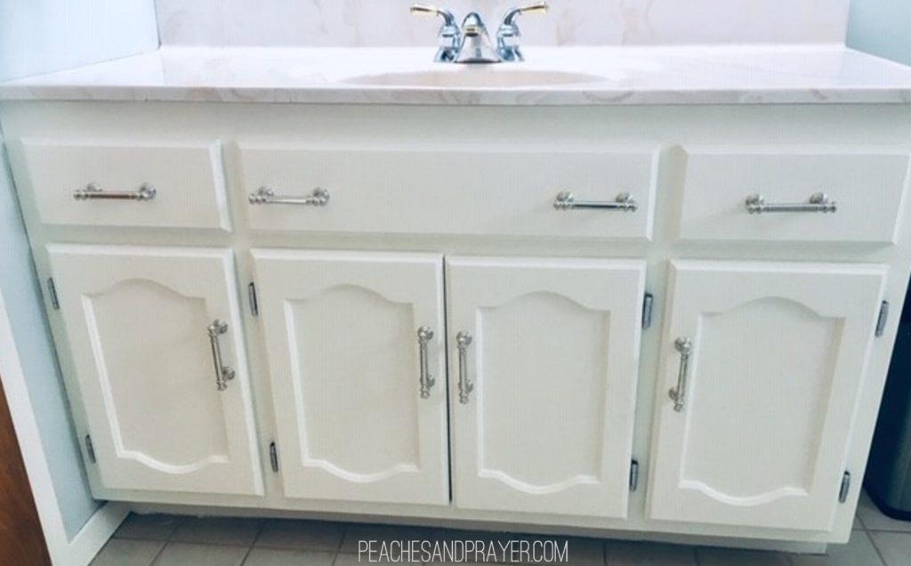 Updating a bathroom vanity