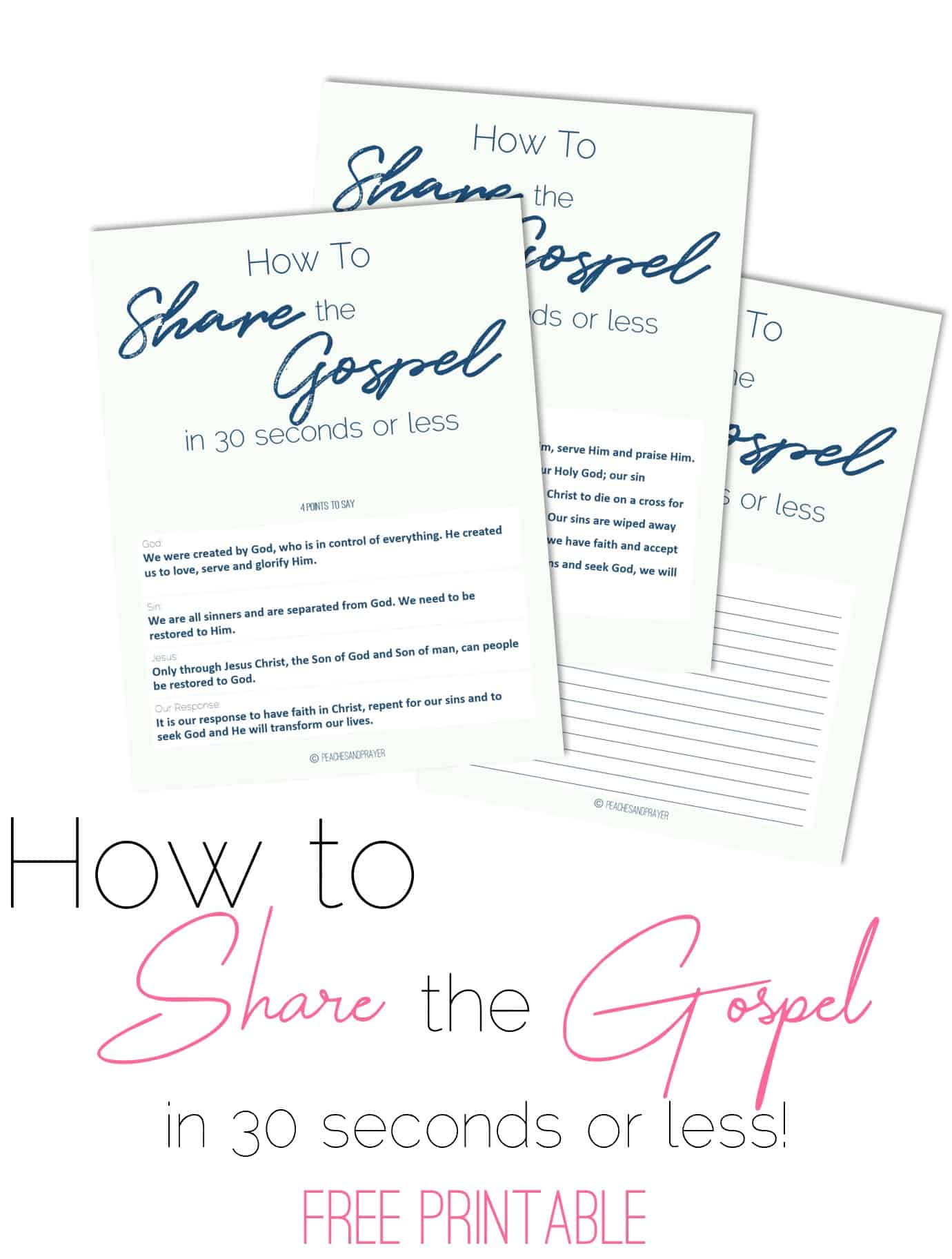How to Share the Gospel Printable