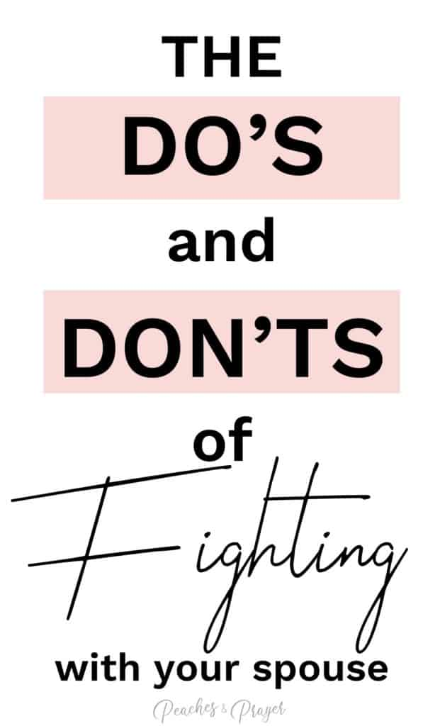 The dos and donts of fighting with your spouse