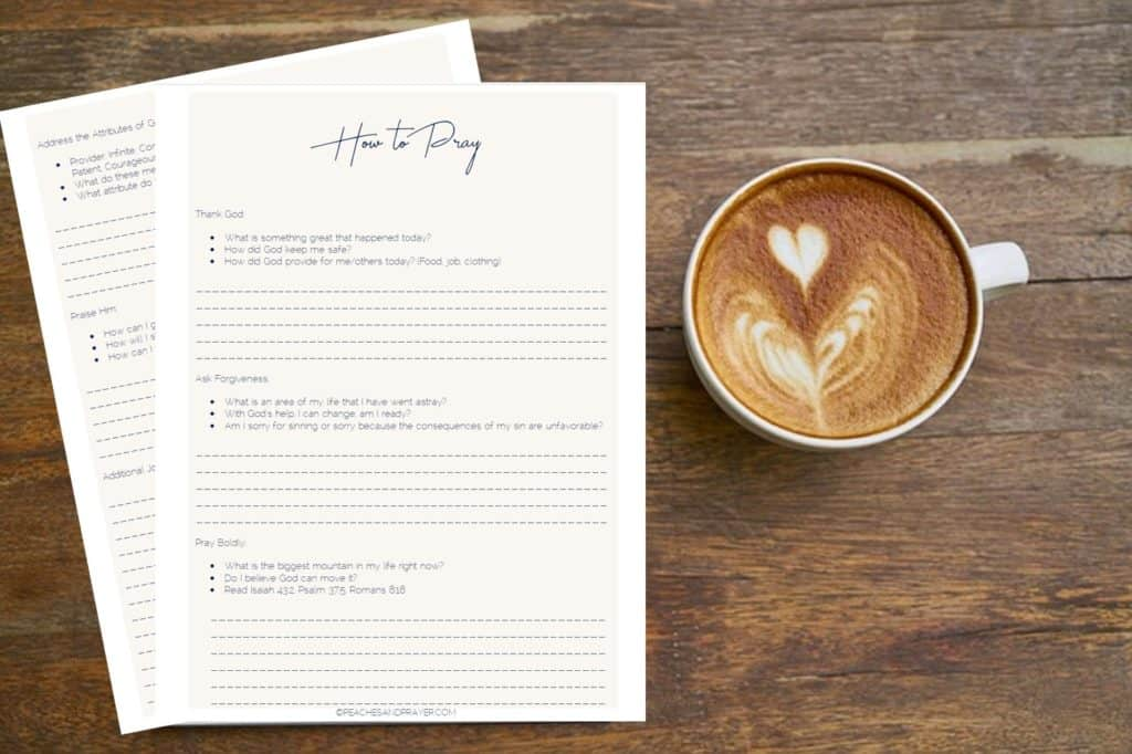 How to Pray Printable Journal