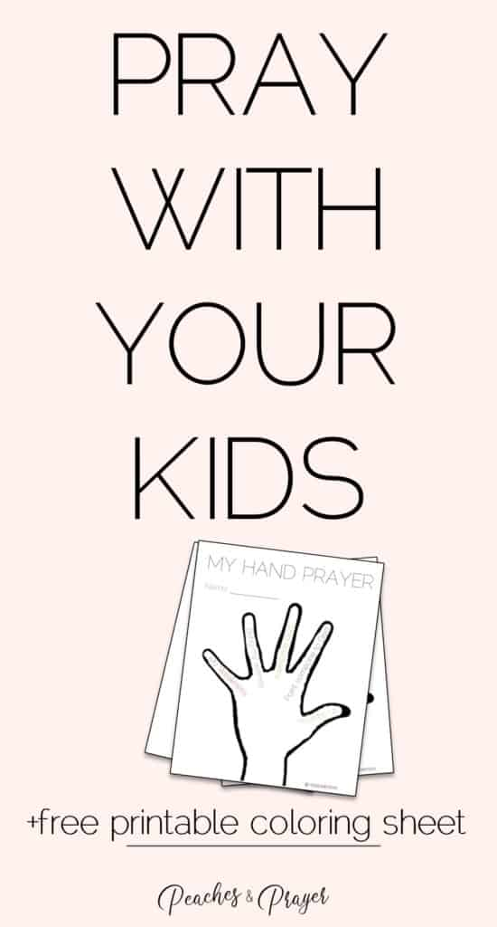 Pray with your kids plus free printable coloring sheet