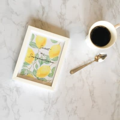 Free Lemon Kitchen Printable Decor
