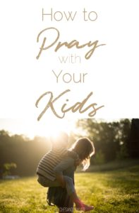 Teach your toddler to pray
