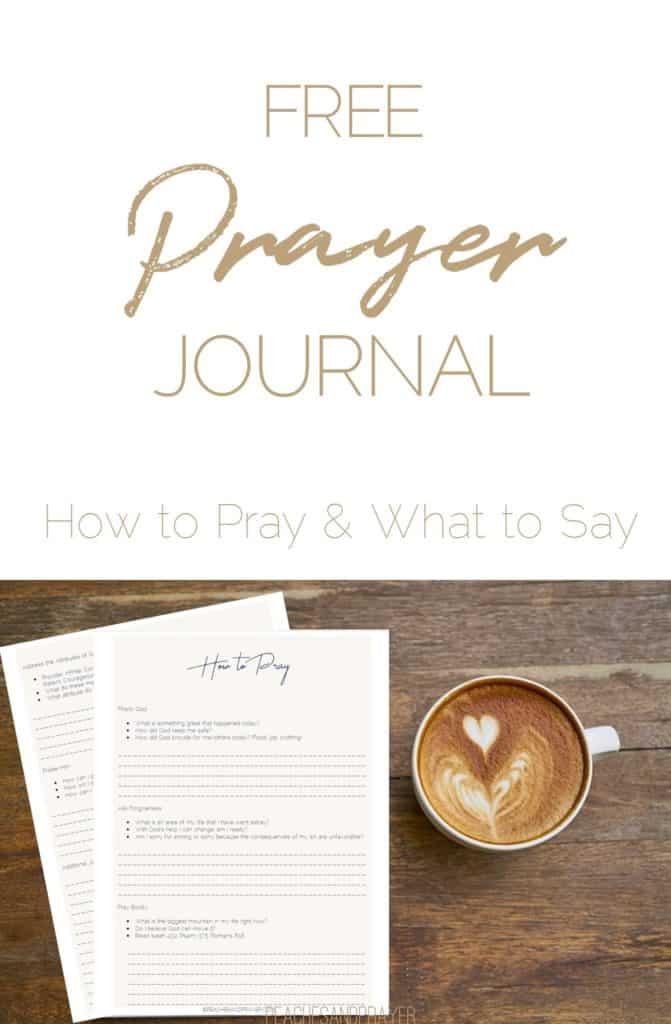 Free prayer journal printable for beginners