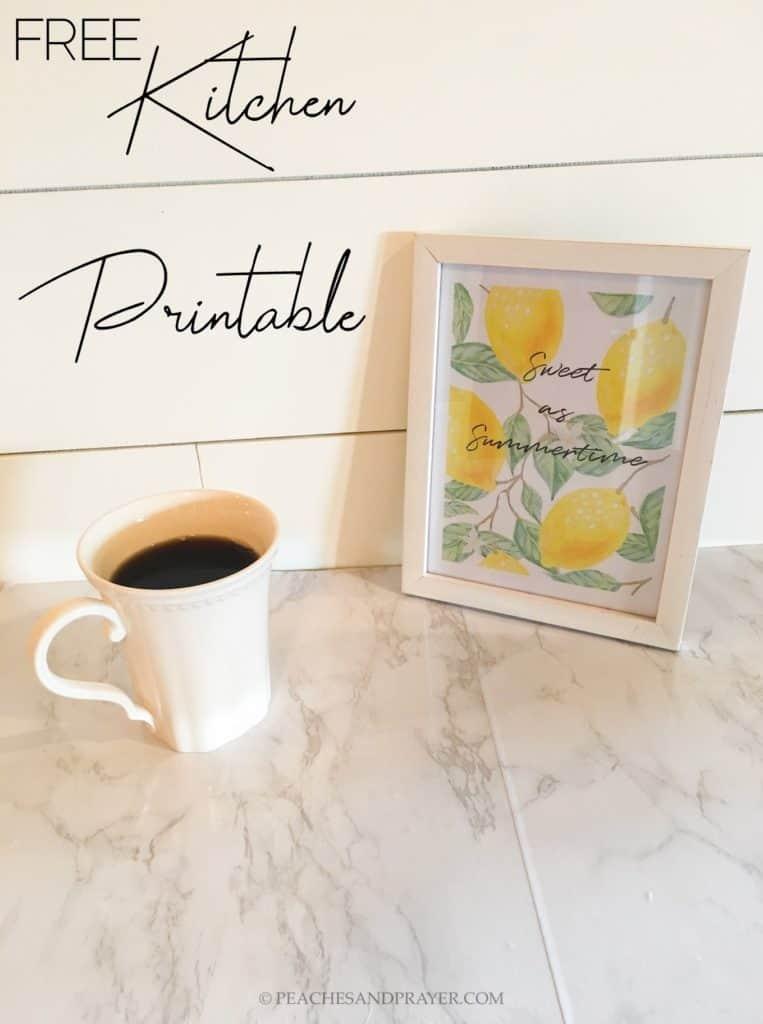 Free Kitchen Printable Summery