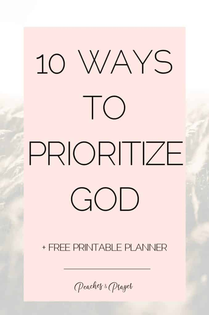 How to put God First this year
