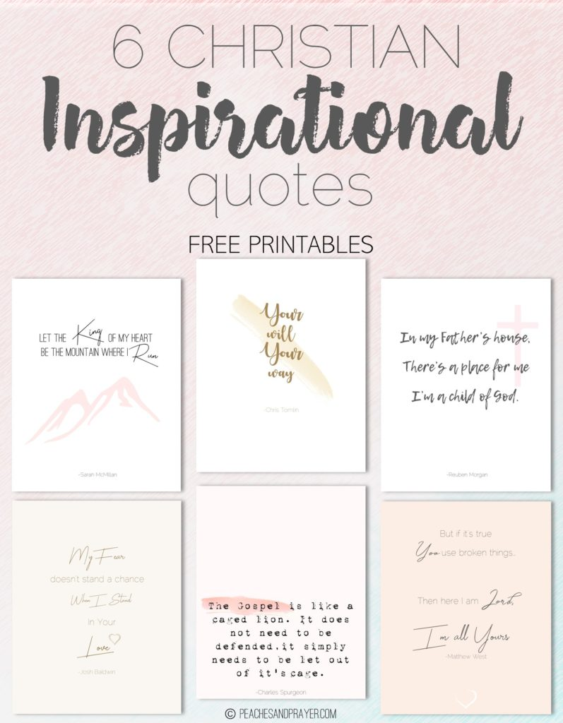 Christian Inspirational Quotes Free Printables Peaches