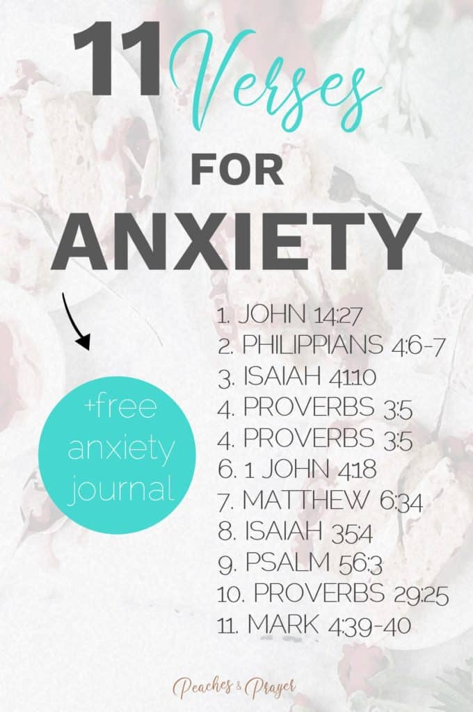 Bible Verses for Anxiety List