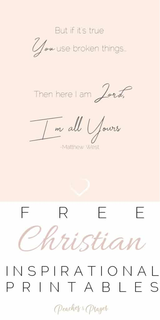 Christian Encouragement for Women Free Printable Quotes