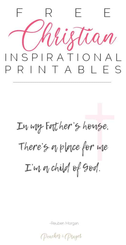 Free Christian Printables Child of God