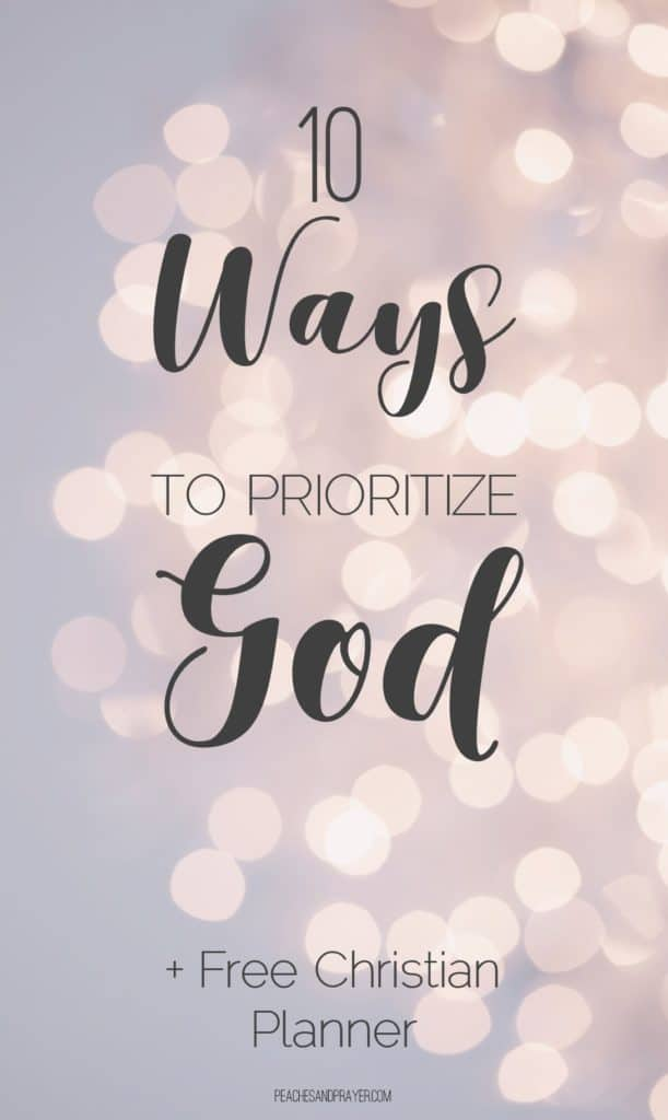 Prioritizing God