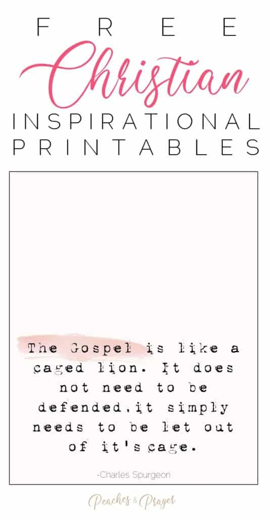 6 Free Printable Christian Inspirational Quotes