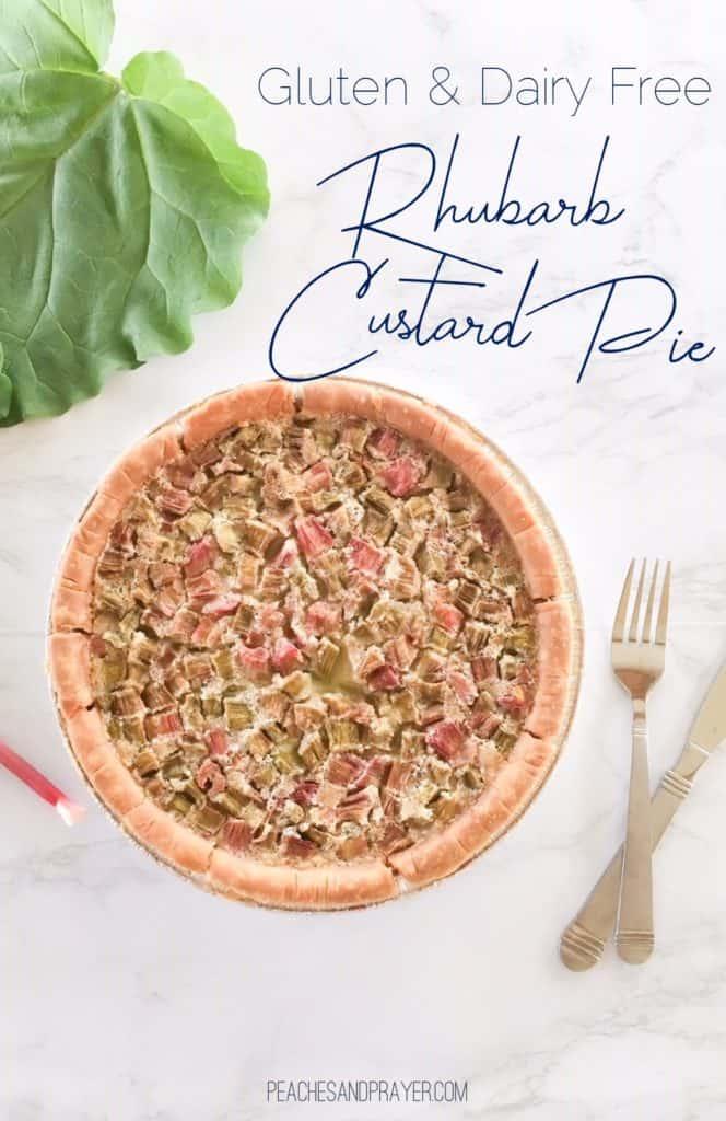 Dairy Free Rhubarb Custard Pie