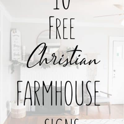 10 Farmhouse Bible Verse Signs for Spiritual Growth