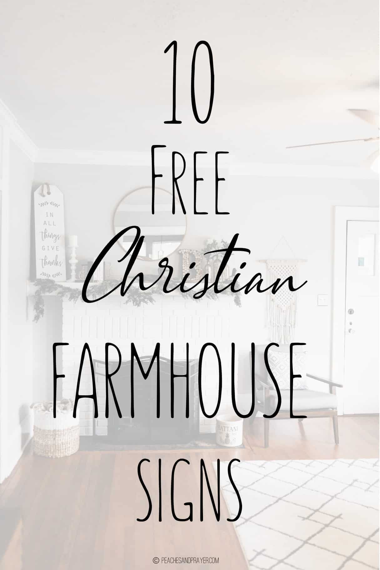 Farmhouse Bible Verse Signs