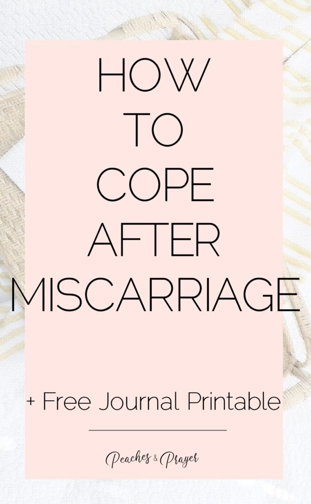 How to cope after miscarriage free journal printable
