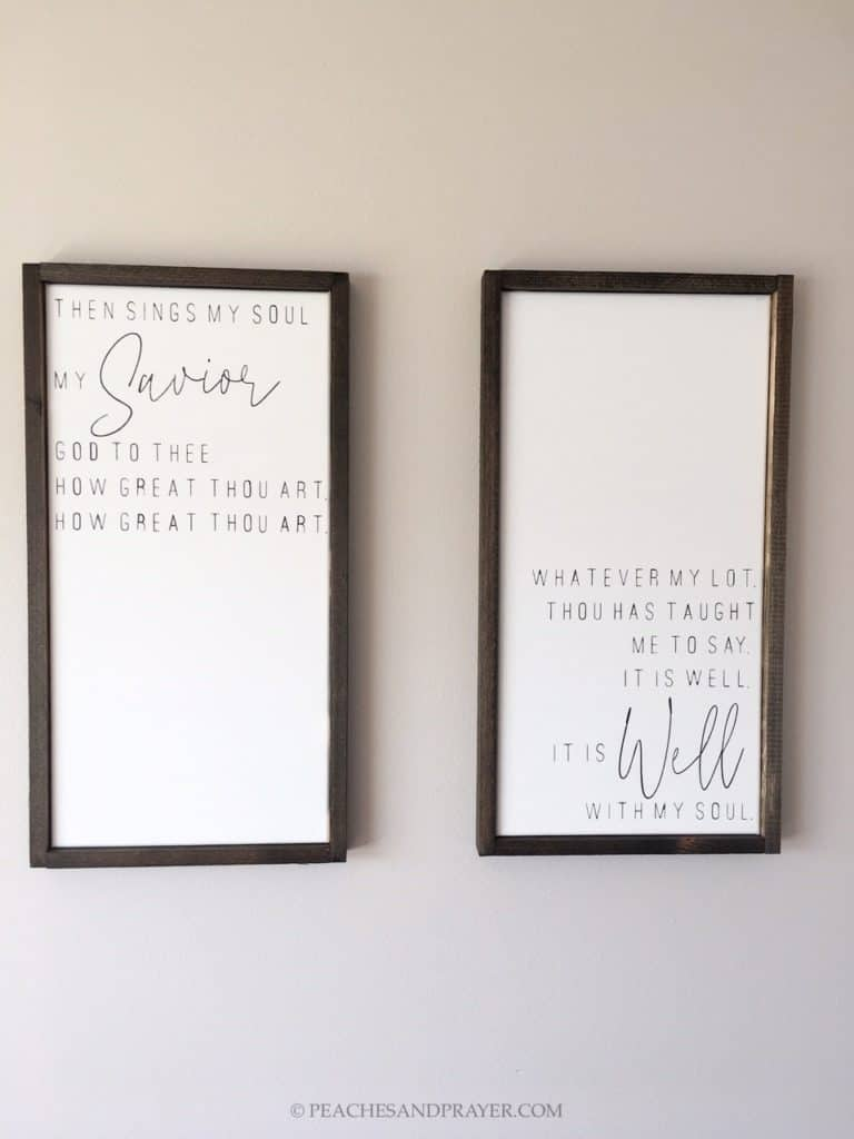 DIY Framed Canvas Signs