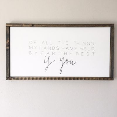DIY Framed Canvas Signs {How to}