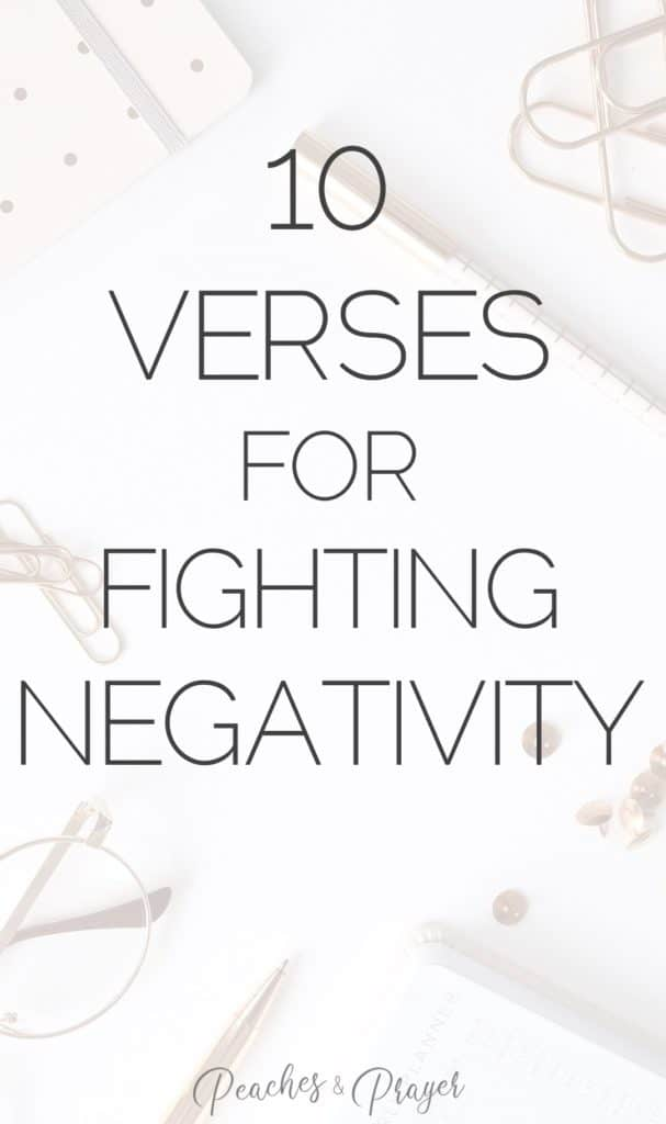 10 Verses for Fighting Negativity