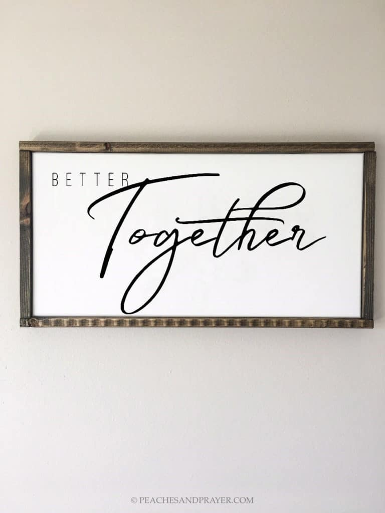 DIY Farmhouse Family Sign