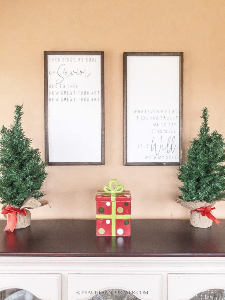 Christmas Christian DIY Framed Canvas Signs