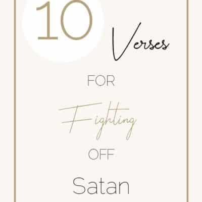 10 Verses When Satan Is Knocking At Your Door