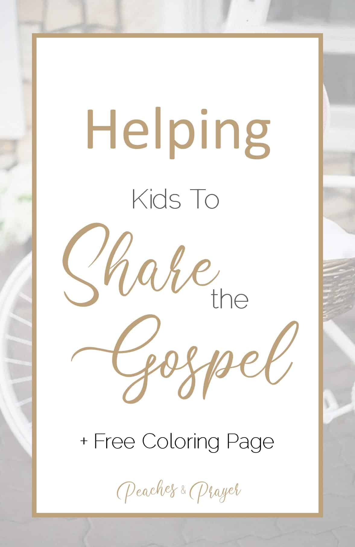 A Simple Tool for Teaching Your Kids to Share the Gospel